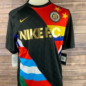 Nike Soccer FC Flag Printed multi color men Jersey